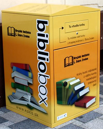 Bibliobox Krajskej knižnice Ľudovíta Štúra