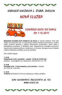 Nová služba knižnice - donáška kníh do domu